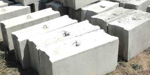 Блоки могут использоваться для фундаментов