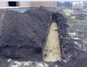 Песчаная подушка для основания