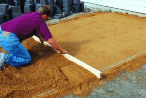 Подготовка подушки под плитку