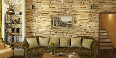 Дизайн интерьера с декоративным камнем