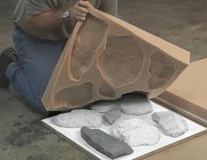 Готовая форма для изготовления камня