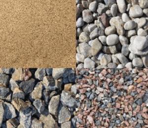 Гравий, щебень и песок