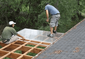 Монтаж поликарбоната на деревянный каркас