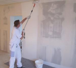 Нанесение водоэмульсионной краски на гипсокартон