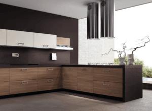 Кухонные фасады из шпона