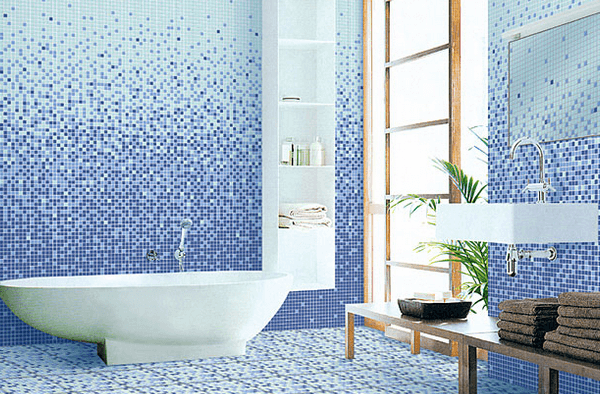 Мозаика в оформлении ванной