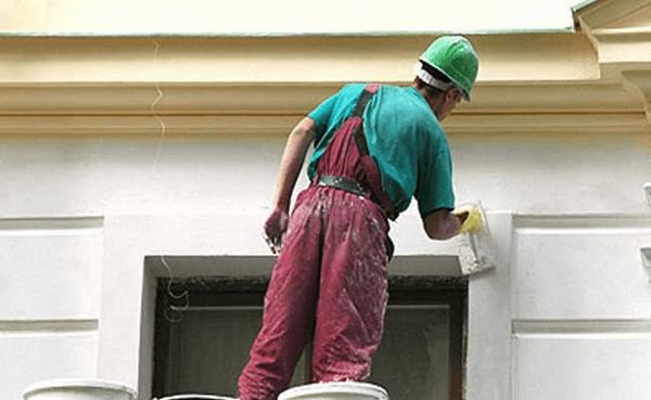 Шпатлевание фасада