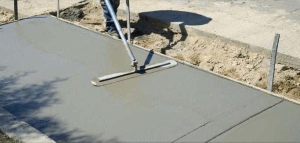 Самостоятельная заливка двора бетоном