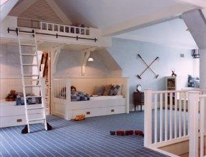 Детская в мансардном помещении
