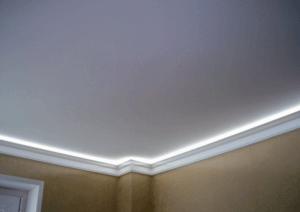 Матовый потолок с подсветкой