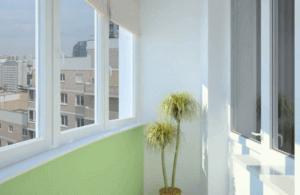 Окрашенный балкон