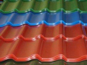 Цветная металлочерепица