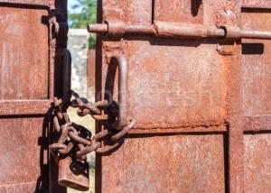 Ворота на цепи