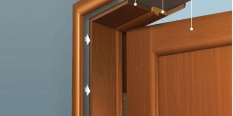 Структура дверной коробки из дерева