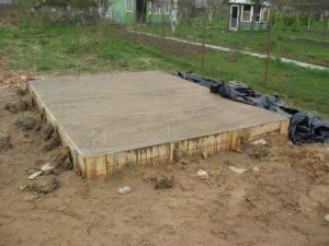 Фундамент под хозблок