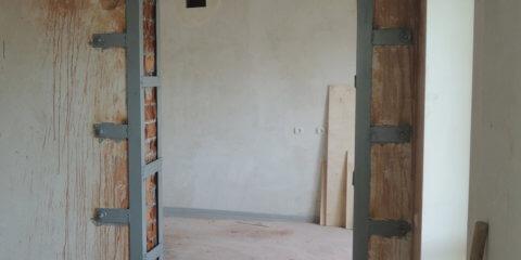 Усиление проема в несущей кирпичной стене