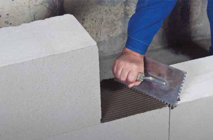 Клей для газобетонных блоков