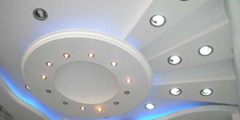 Точечные светильники в гипсокартоне