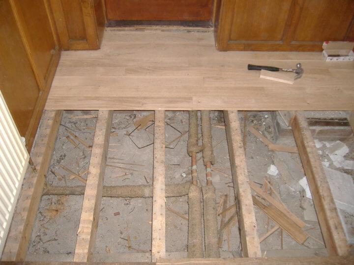 Дощатый пол на бетонное основание