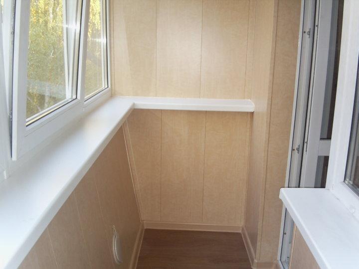 МДФ-панели для облицовки балкона