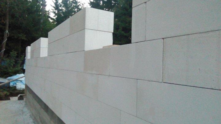 Несущие стены из газобетонных блоков