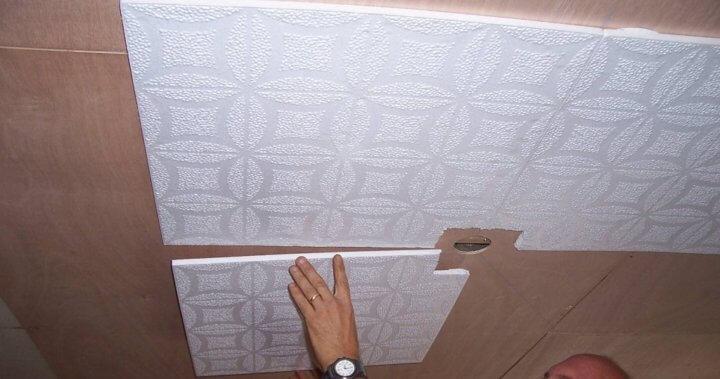 Монтаж потолочной плитки