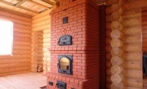 Кирпичная печь на дровах