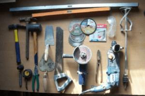 Инструменты для возведения печи