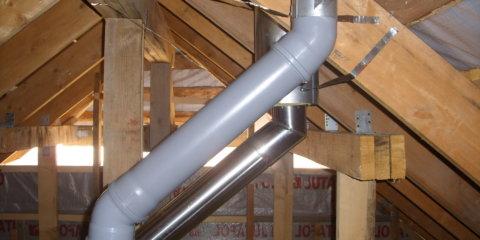 Вентиляция в коттедже из пластиковых труб