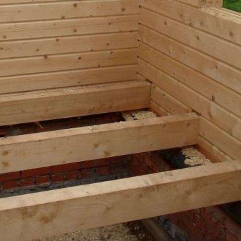 Лаги для пола в деревянном доме: устройство основания для чистового настила