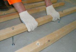 Лаги для пола по бетону