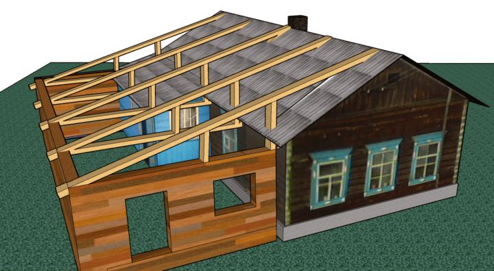 Проект пристроя к дому