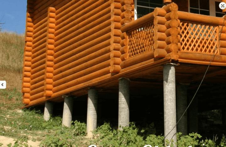 Дом на фундаменте из асбестовых труб