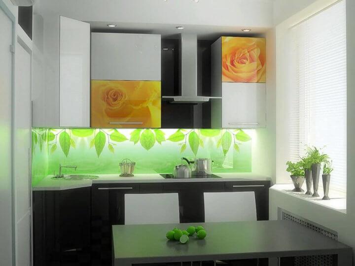 Фартук на маленькой кухне