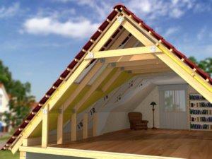 Мансарда с двускатной крышей