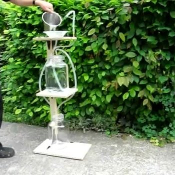 Как создается фонтан своими руками без насоса