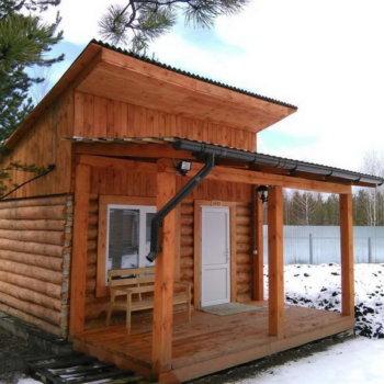 Односкатная крыша для бани: особенности монтажных работ