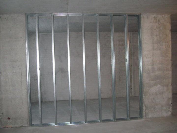 Фальш-стена из гипсокартона