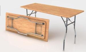 Складной стол с металлическими ножками
