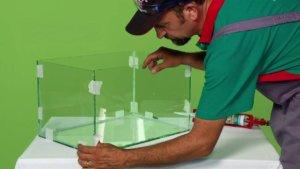 Удаление герметика из стеклянной поверхности