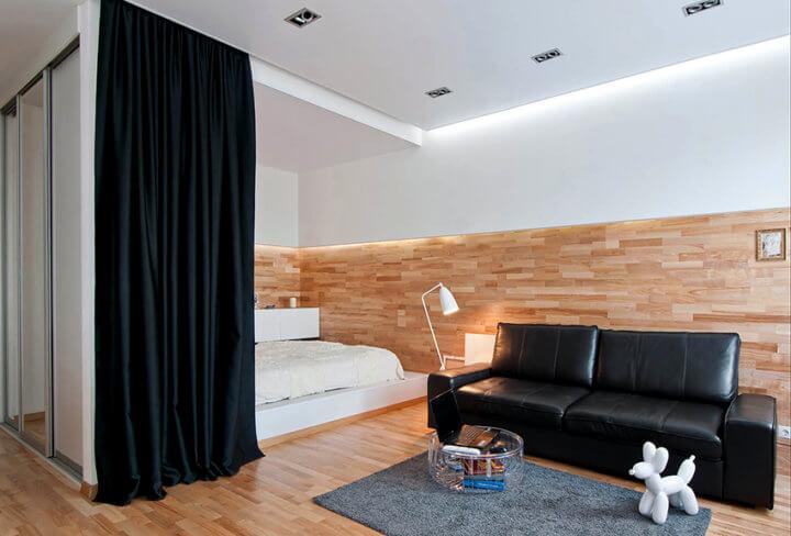 Варианты зонирования комнаты