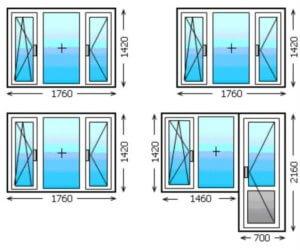 Стандартный размер оконного проема