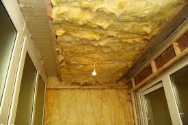 Утепление потолка на балконе миватой