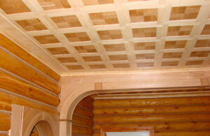 Красивый потолок из фанеры