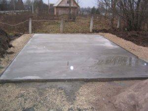 Бетонный фундамент для гаража
