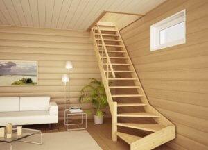 планировака лестницы на втрой этаж
