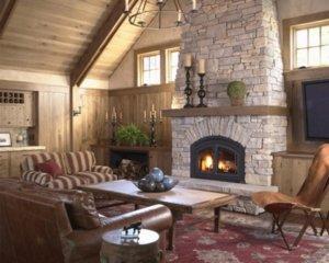 Деревенский дом, интерьер внутри, советы по созданию своими руками