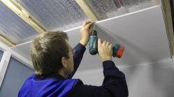 Крепление пластиковых панелей на потолок